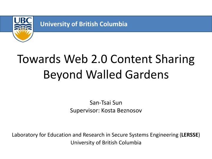 Towards web 2 0 content sharing beyond walled gardens
