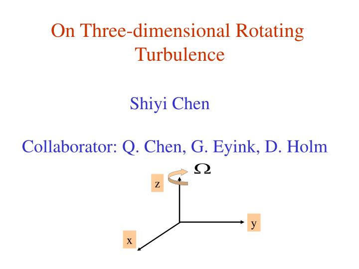 On Three-dimensional Rotating