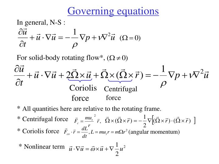 For solid-body rotating flow*,