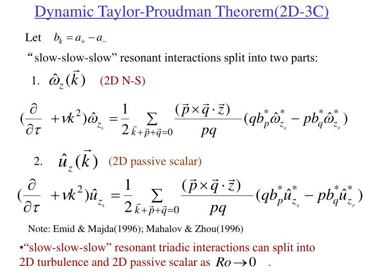 Dynamic Taylor-Proudman Theorem(2D-3C)