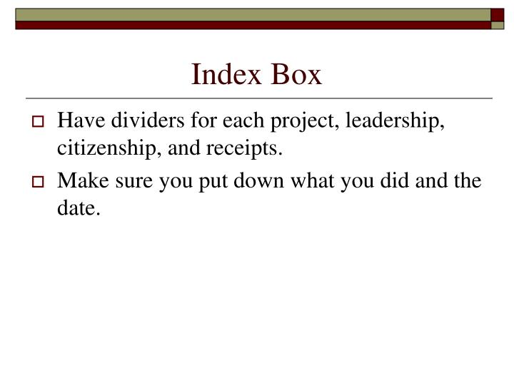 Index Box