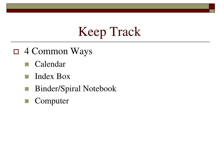 Keep Track