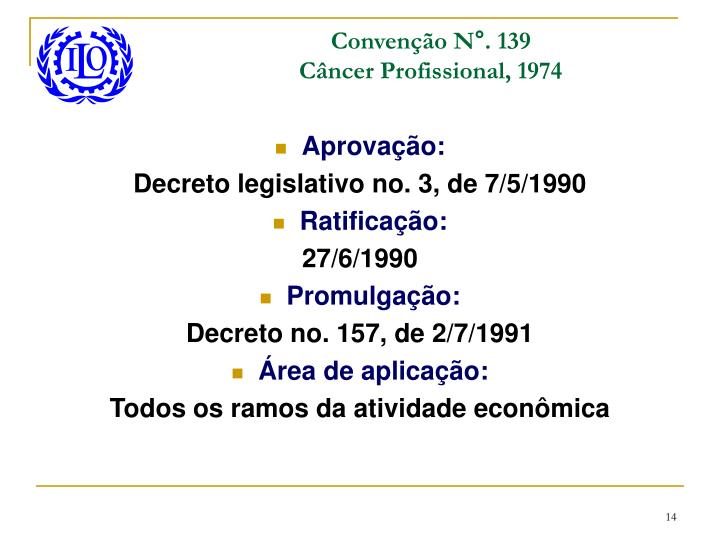 Convenção N°. 139