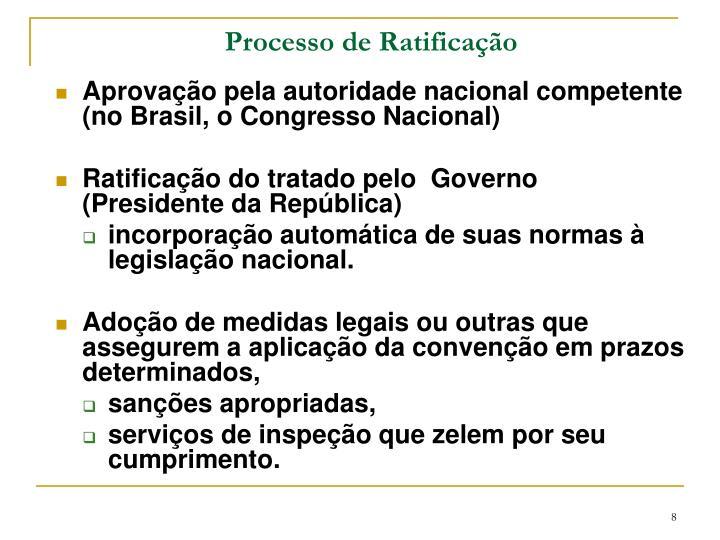 Processo de Ratificação