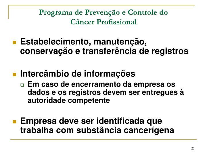 Programa de Prevenção e Controle do
