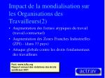 impact de la mondialisation sur les organisations des travailleurs 2