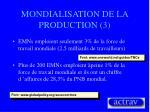 mondialisation de la production 3