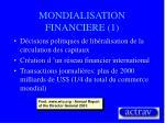 mondialisation financiere 1