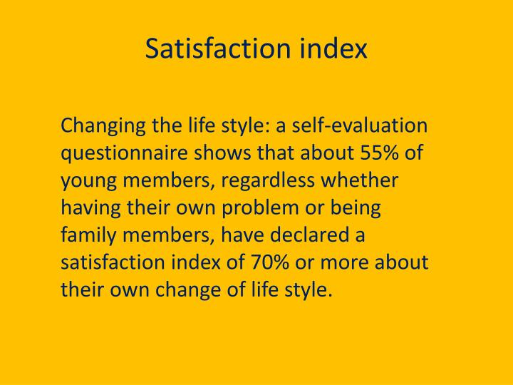 Satisfaction index