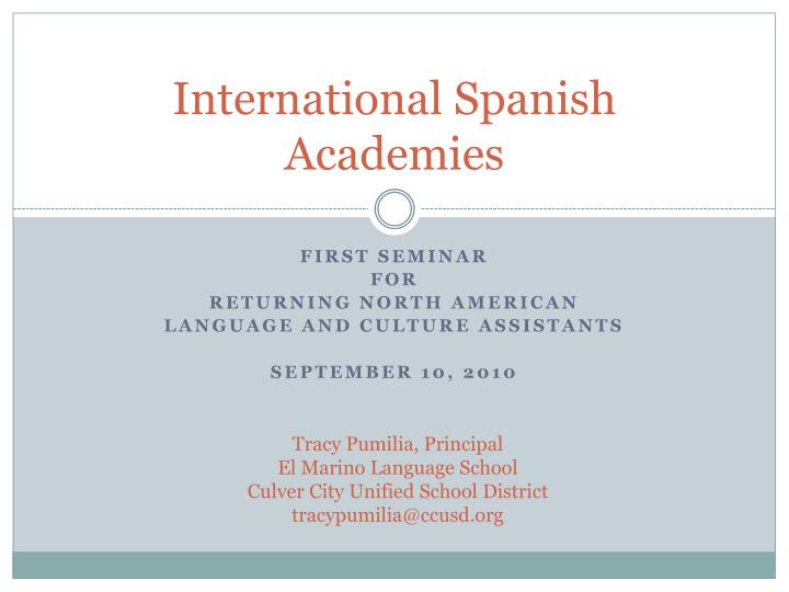International spanish academies