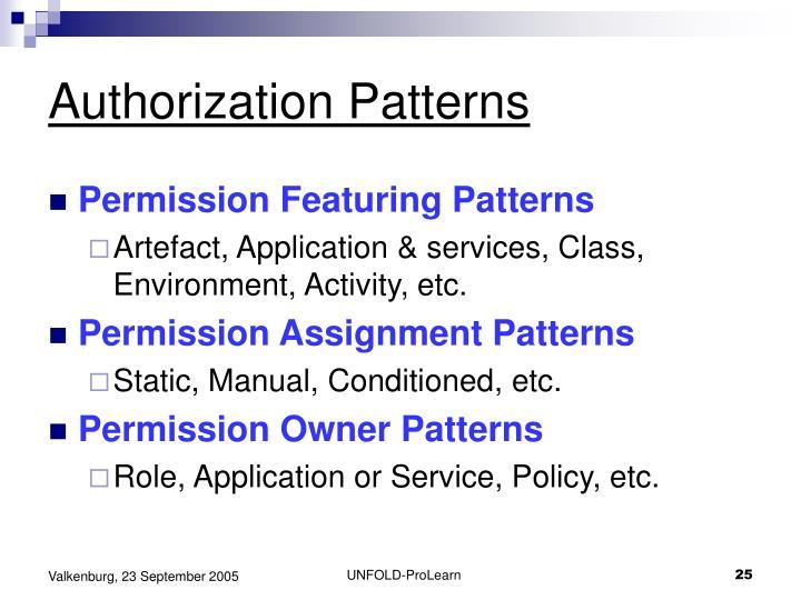 Authorization Patterns