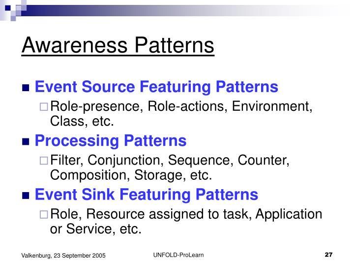 Awareness Patterns