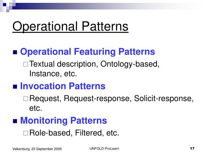 Operational Patterns