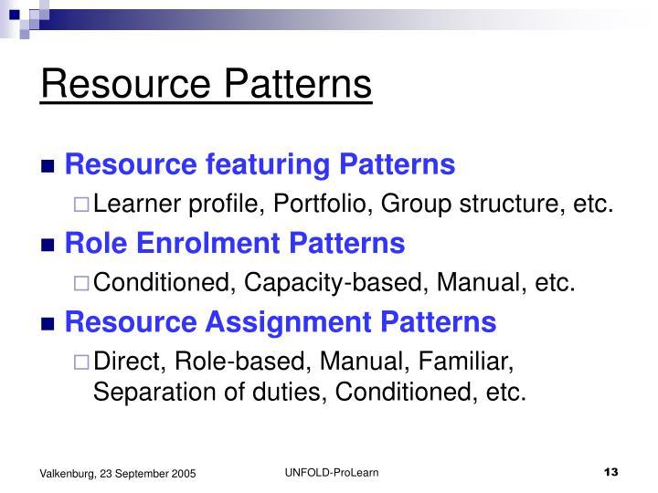 Resource Patterns