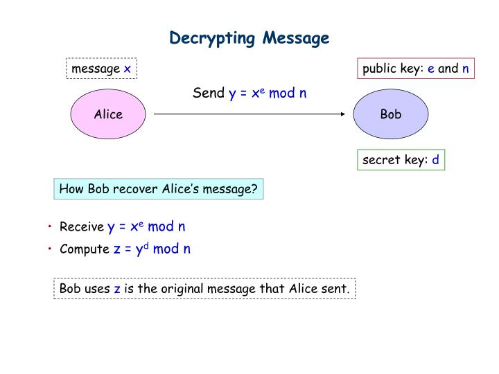 Decrypting Message
