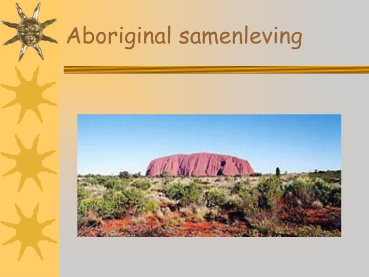 Aboriginal samenleving