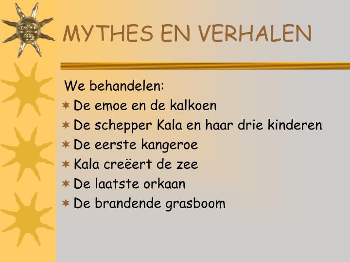 MYTHES EN VERHALEN