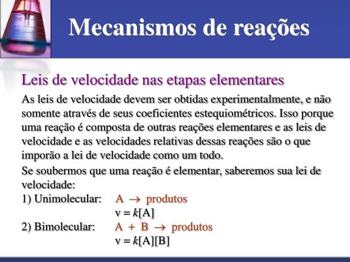 Mecanismos de reações