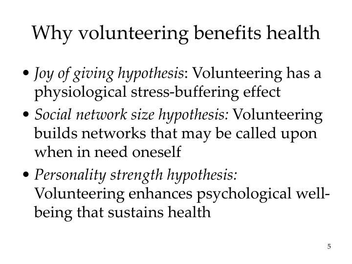 Why volunteering benefits health