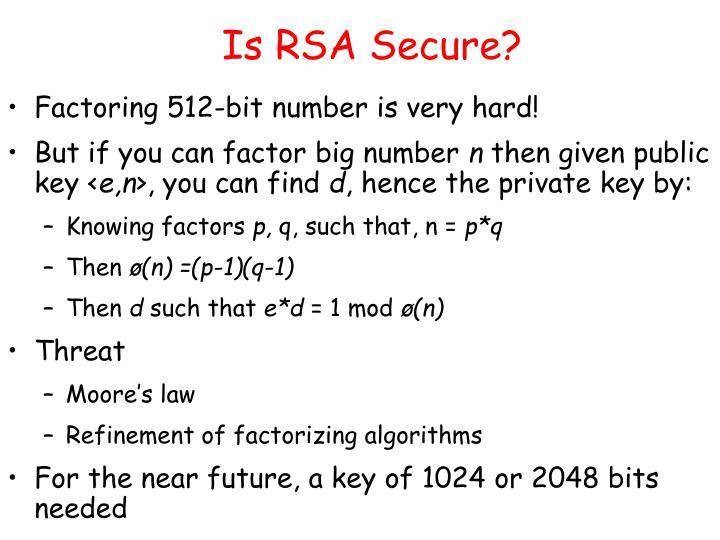 Is RSA Secure?