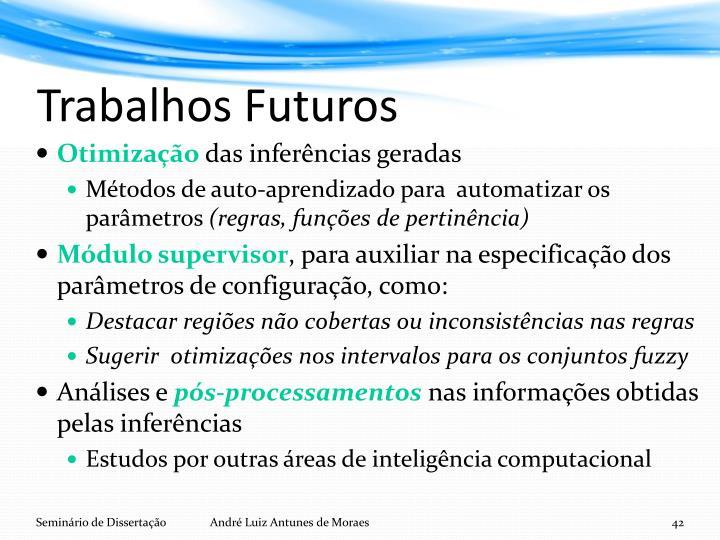 Trabalhos Futuros