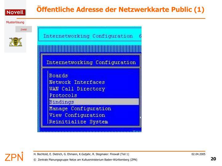 Öffentliche Adresse der Netzwerkkarte Public (1)