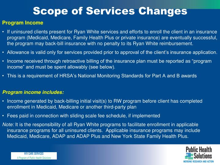 Scope of Services Changes