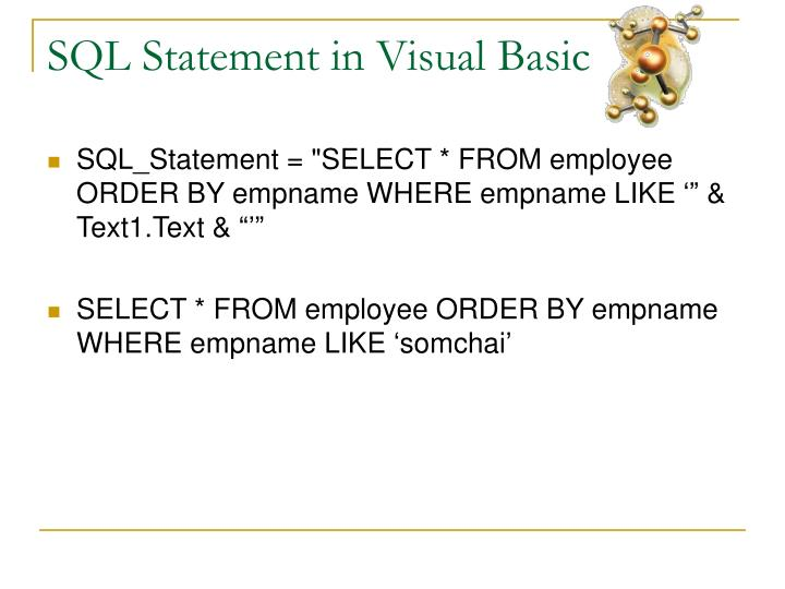 SQL Statement in Visual Basic