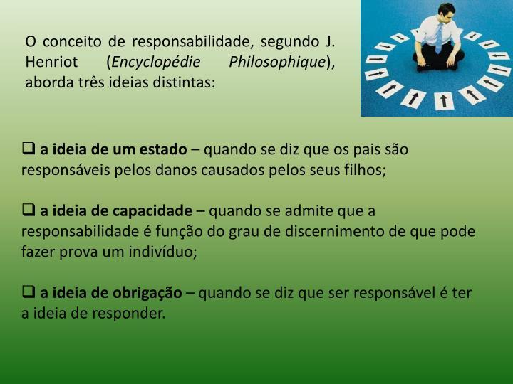 O conceito de responsabilidade, segundo J. Henriot (