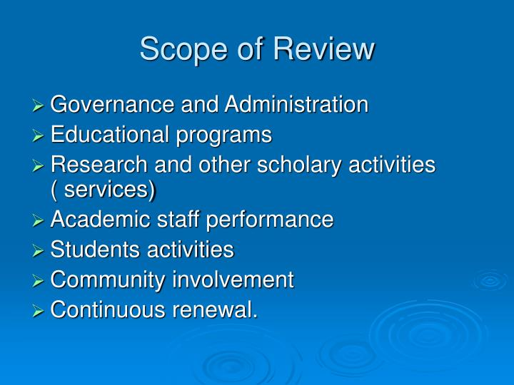 Scope of Review