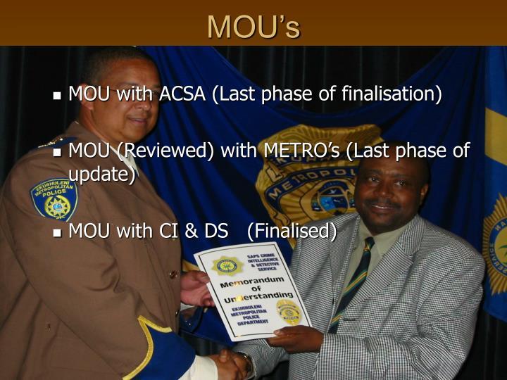 MOU's