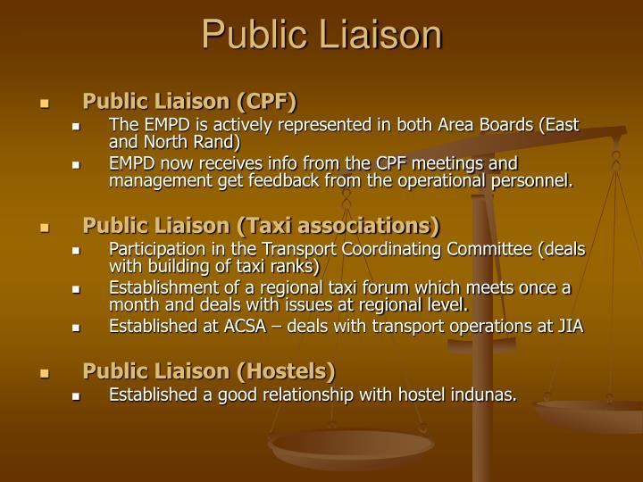 Public Liaison