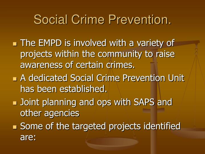 Social Crime Prevention.