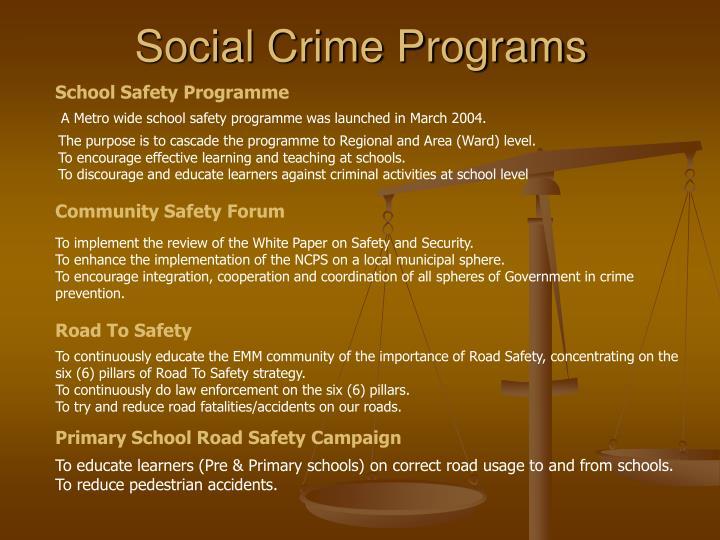 Social Crime Programs