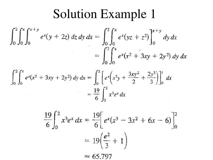 Solution Example 1