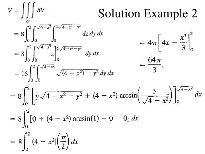 Solution Example 2
