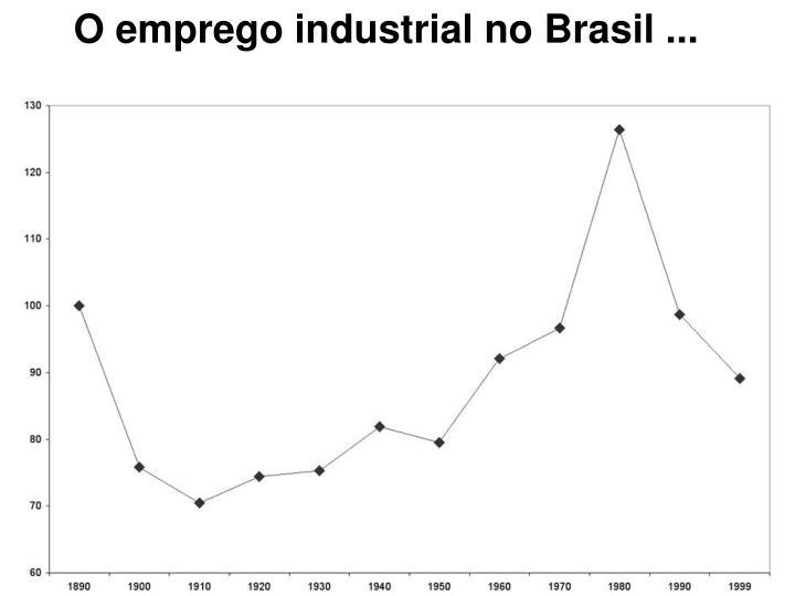 O emprego industrial no Brasil ...