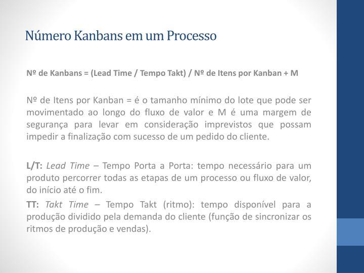 Número Kanbans em um Processo