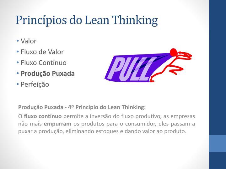 Princípios do Lean Thinking