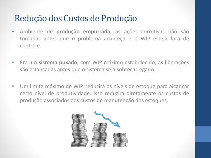 Redução dos Custos de Produção