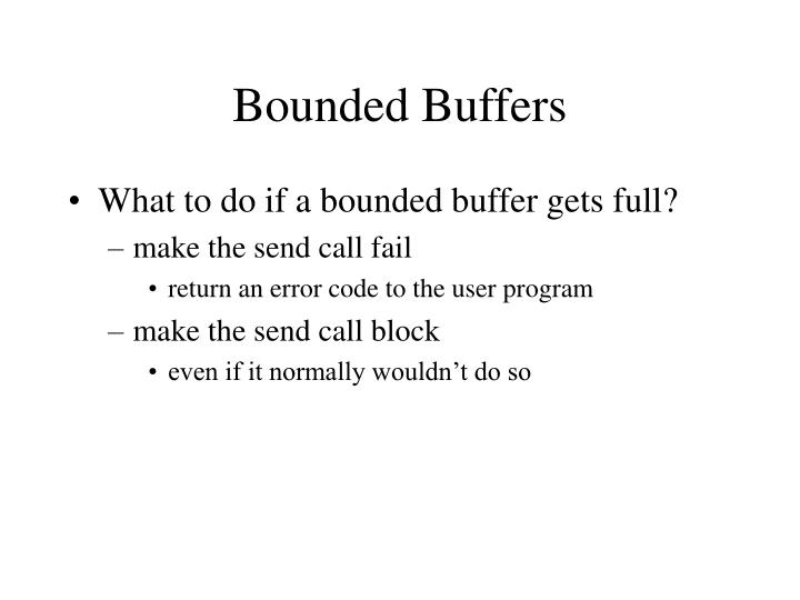 Bounded Buffers