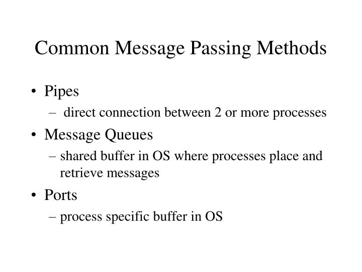 Common Message Passing Methods