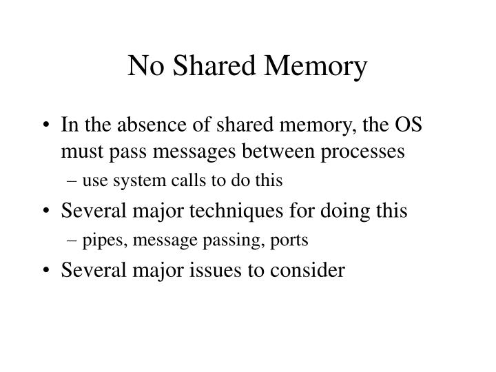 No Shared Memory