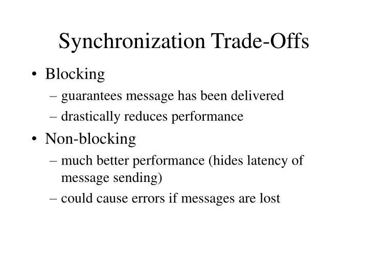 Synchronization Trade-Offs