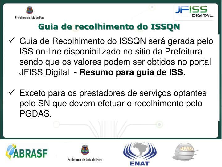 Guia de recolhimento do ISSQN