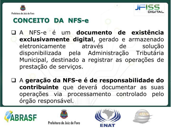 CONCEITO  DA  NFS-e