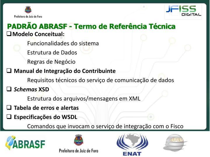 PADRÃO ABRASF - Termo de Referência Técnica
