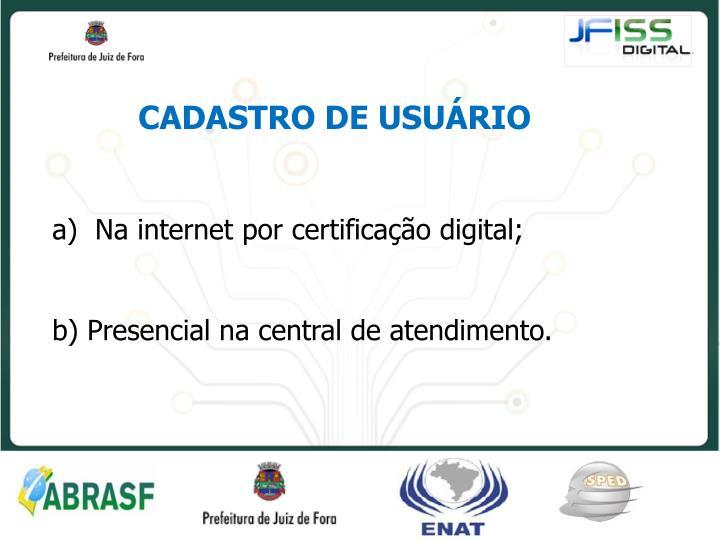 CADASTRO DE USUÁRIO