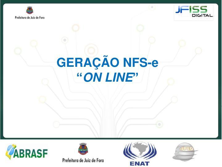"""GERAÇÃO NFS-e """""""