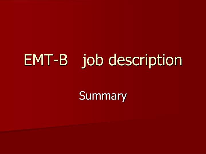 EMT-B   job description